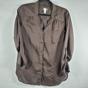 Chico's 2 Womens Size 0 Blouse Top 3/4 Sleeve